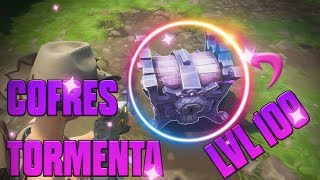 MAKING COFRES OF THE LVL 1OO FORTNITE TORMENT SAVE THE WORLD