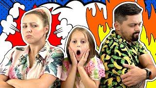 РОДИТЕЛИ ПОССОРИЛИСЬ! Амелька пытается помирить маму с папой!