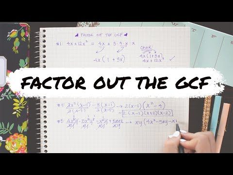 FACTOR OUT THE GCF (greatest common factor) » how to factor polynomials | Math Hacks