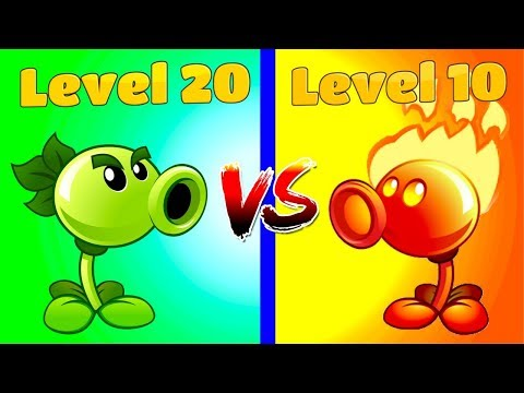 Plants vs Zombies 2 REPEATER (20) VS FIRE PEASHOOTER (10)