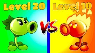 Plants vs Zombies 2 Gameplay REPEATER (20) VS FIRE PEASHOOTER (10) Mex Levels Primal PVZ 2 Gaming