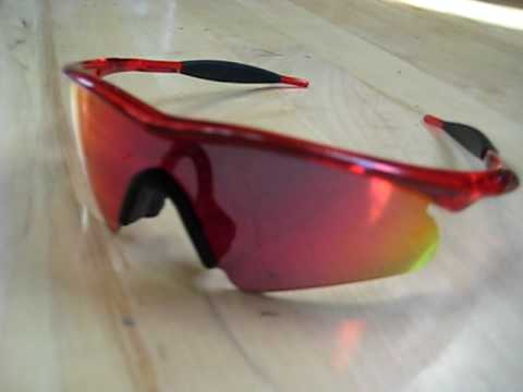 Brand New Oakley M Frames Crystal RED With Red Iridium Lens - YouTube