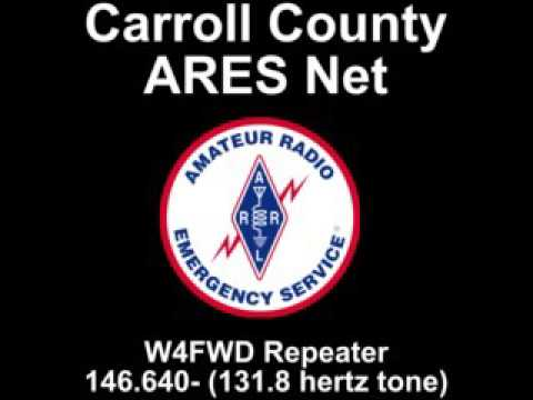 Carroll County ARES (Amateur Radio Emergency Service) Net - 6/1/2017