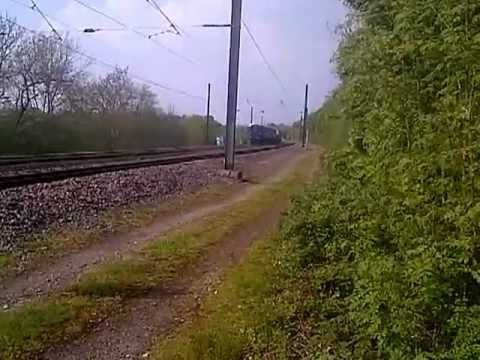 *RARE* DRS 37608 Submarine Flask 6z40 (Keyham-Crewe) pass Cofton Hackett Barnt Green 23rd may 2012