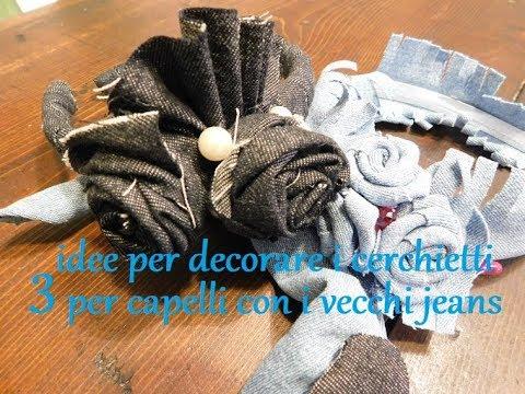 la moda più votata catturare prezzo ridotto Tre facili idee per decorare i cerchietti con gli avanzi di jeans