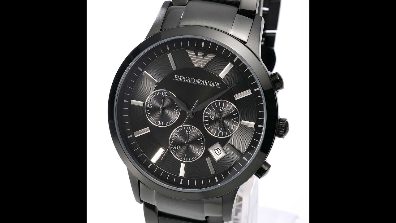 emporio armani ar2453 mens watch classic black stainless steel rh youtube com emporio armani watch user manual emporio armani smartwatch manual