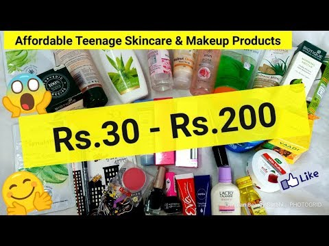 Affordable Teenage Skincare & Makeup Products || Rs.30 - Rs.200 || Best Products For Teenagers 🙋😍