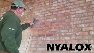Nyalox for cleaning oĮd bricks