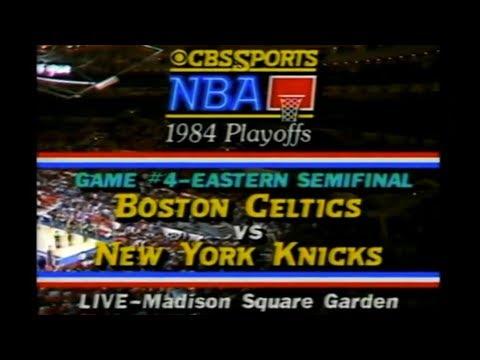 1984 NBA on CBS  Celtics vs Knicks  ECSF Game 4