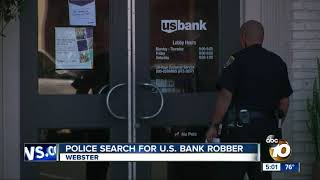 Police search for US Bank robber