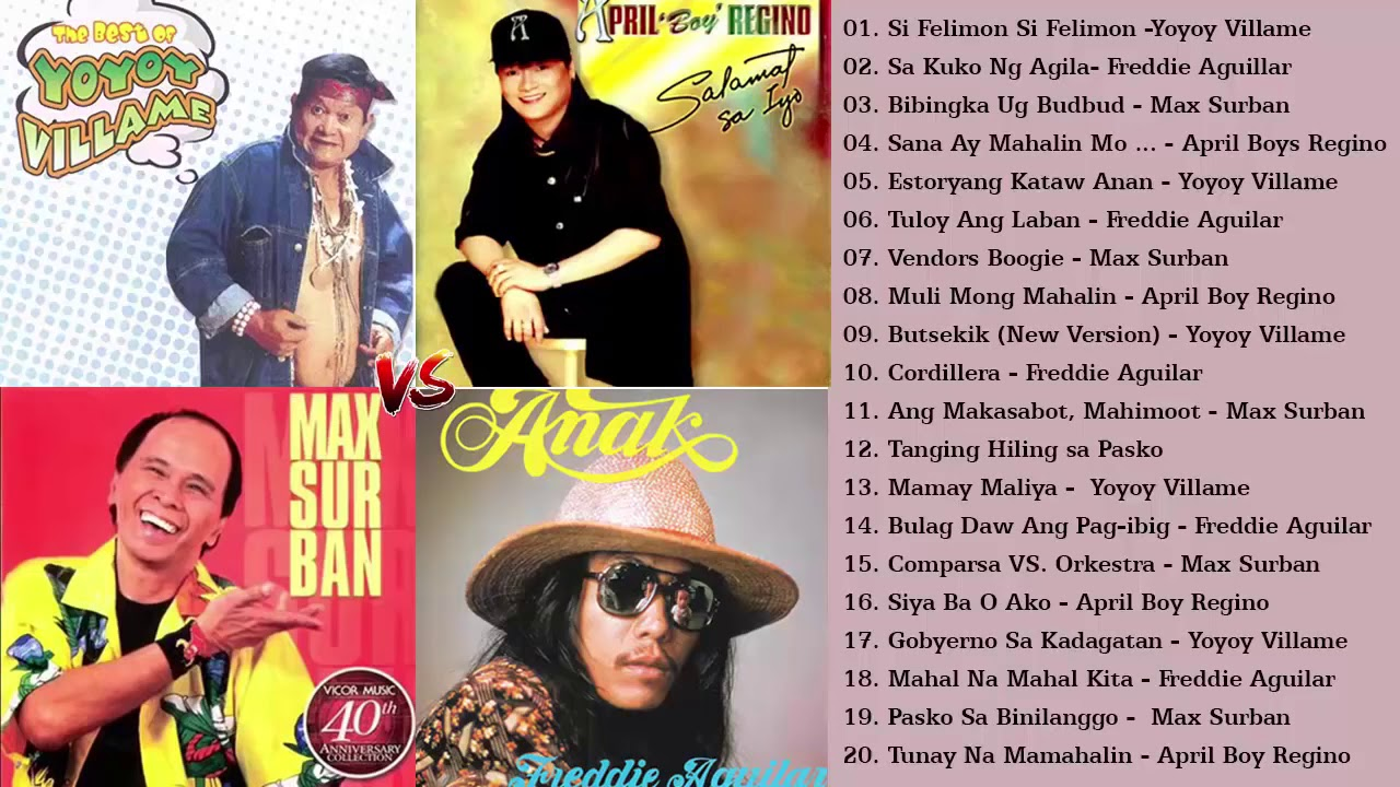 NONSTOP OPM TAGALOG SONG  of YOYOY VILLAME, MAX SURBAN || Best SOnGS Full ALBUM