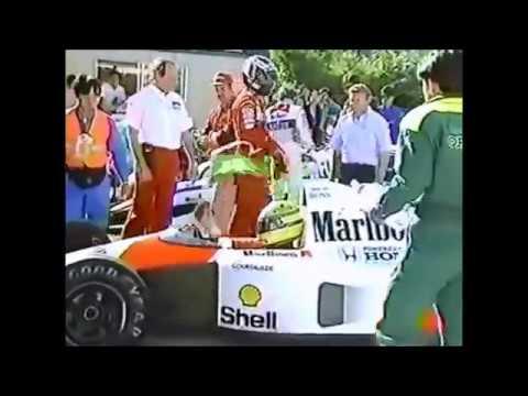 1991年 F1日本GP セナ�らベルガー��贈り物 Gift from Senna to Berger