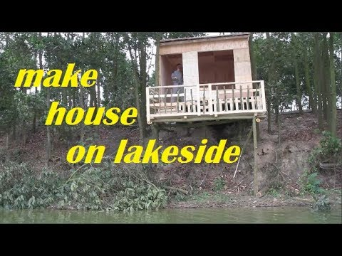 How to make amazing wood  house on  lakeside | Quang DIY