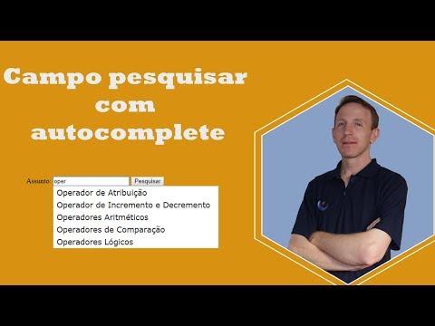 PHPOO #3 - Como Criar Campo Pesquisar Com Autocomplete Com JQuery, PHP E PDO