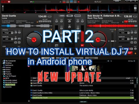 How To Install Virtual Dj Pro 7 In Android Phone Part # 2(tagalog)
