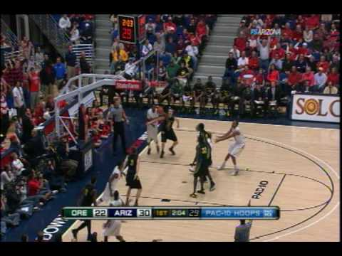 2009/2010 Arizona Basketball vs Oregon