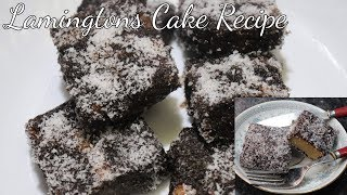 Egg Less Lamingtons Cake Recipe || Australian Lamingtons || In Hindi