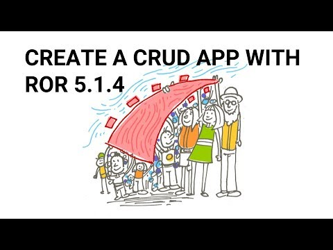 Make a complete CRUD application with Ruby on Rails 5.1.4.(Explained)