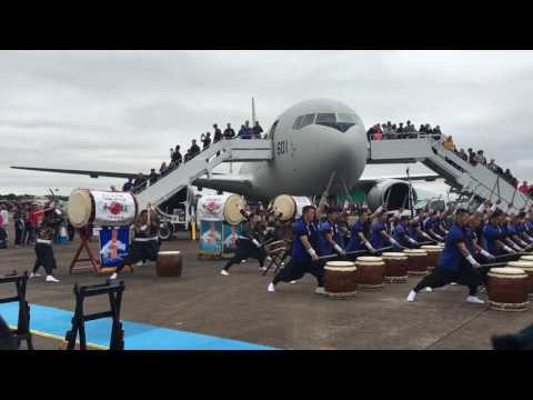 Japanese Air Self Defense Force Taiko Drummers - Royal International Air Tattoo 2017
