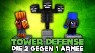 TOWER DEFENSE! DIE 2 GEGEN 1 ARMEE! | DieBuddiesZocken