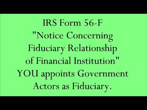 Irs Form 56 F You Appoints Secretary Director Of Treasury And