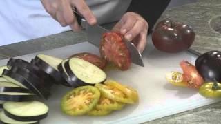 Video Recipe: Eggplant, Heirloom Tomato, and Buffalo Mozzarella Stacks