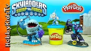 PLAY-DOH Skylanders! Blizzard Chill ThumpBack, Trap Shadow With HobbyFamily