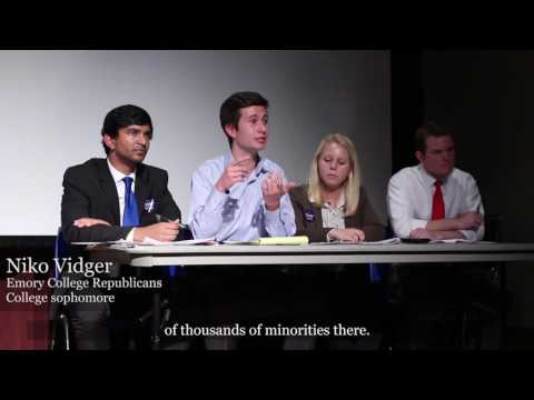 Young Democrats and College Republicans Debate Presidential Election