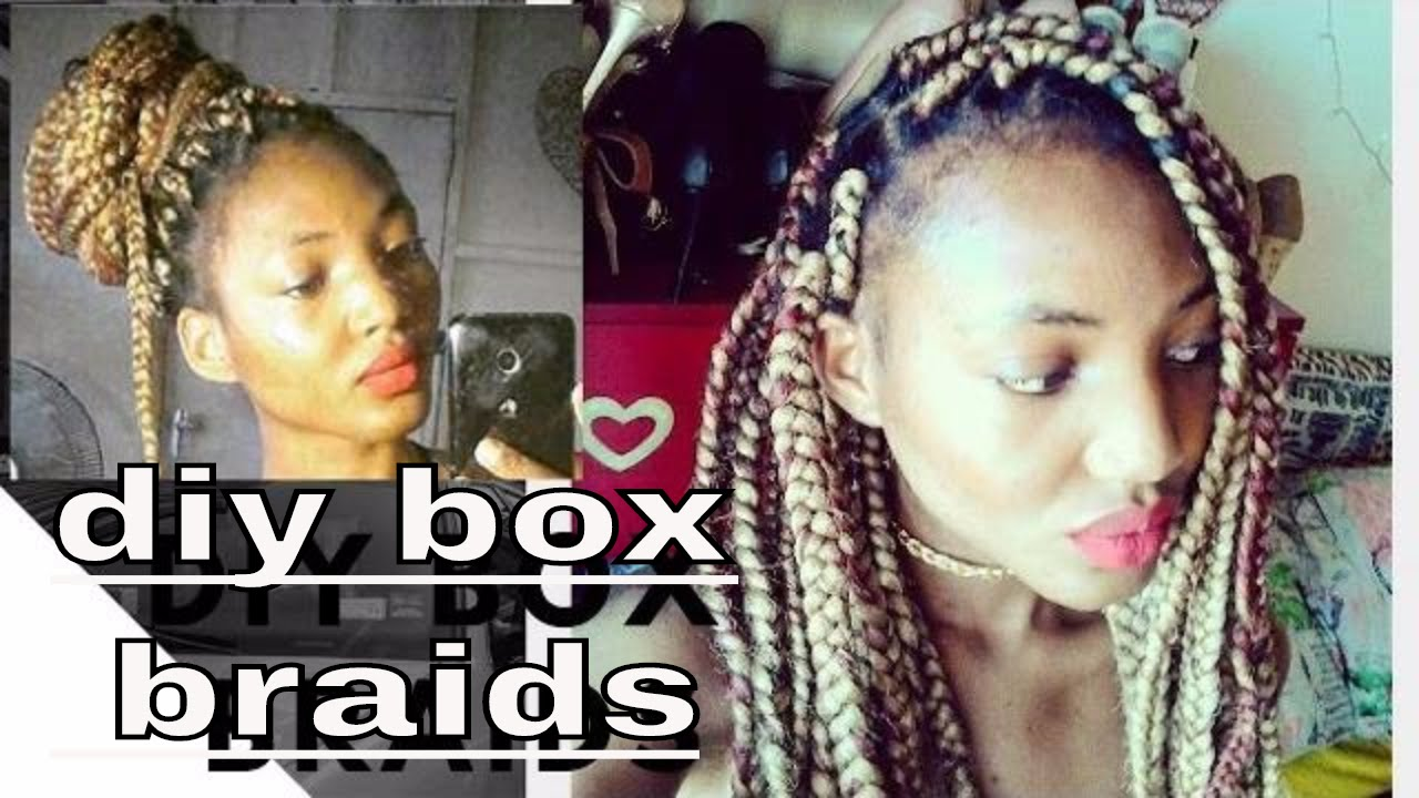 How To Diy Box Braid Like A Pro For Beginners Easy Way To Box Braid Your Own Hair