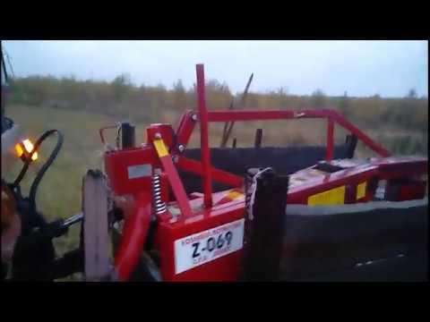 видео: С косилкой wirax на прицепе поехал за травой.