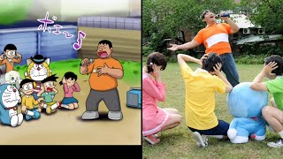 Doraemon characters in real life