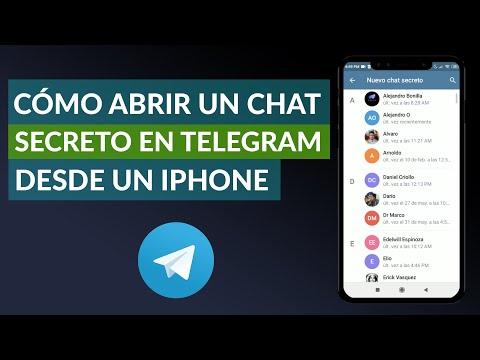 Cómo Abrir un Chat Secreto en Telegram Desde un iPhone