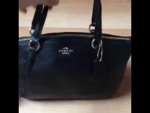 11dc5dc96d334 Short video authentic coach kelsey mini black F57563 - YouTube
