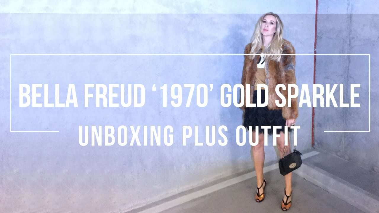 ba06d6e15c1 Bella Freud  1970  Gold Sparkle Jumper Unboxing and Christmas Party Outfit