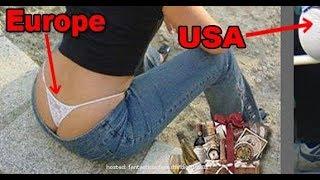 Las diferencias más cómicas entre Europa y Estados Unidos