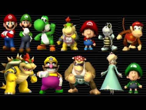 Mario Kart Wii - All Characters