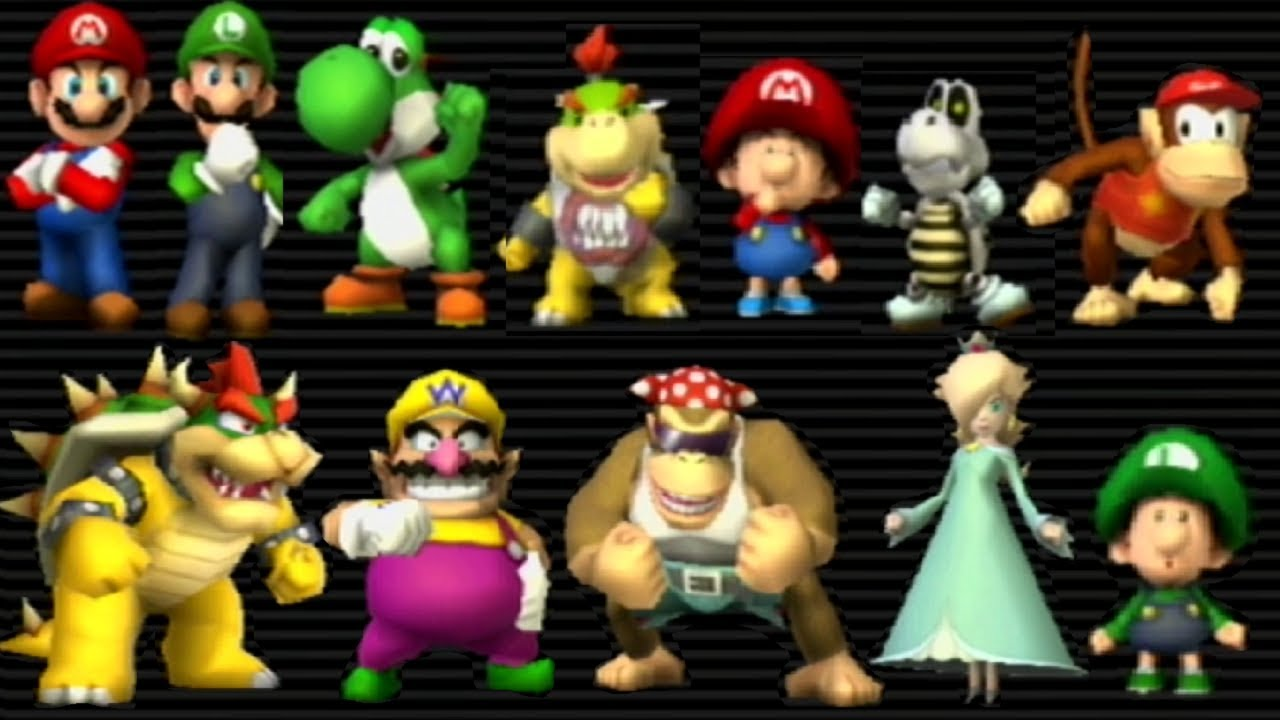 Mario Kart Wii All Characters