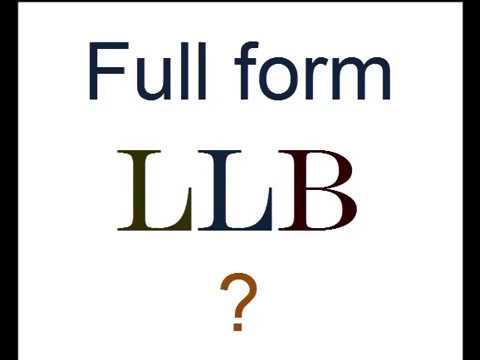 LLB ka full form kya hai? - YouTube