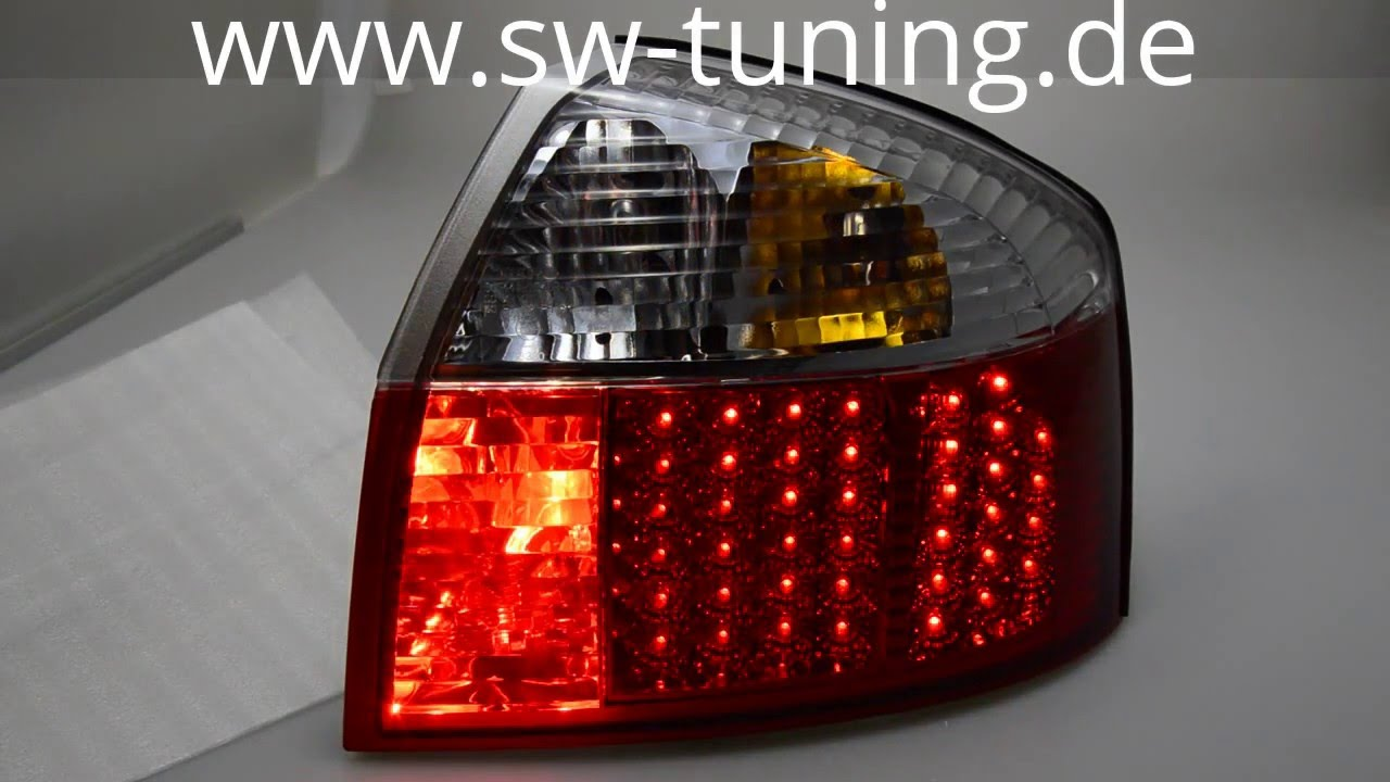 Led Rückleuchten Für Audi A4 8e Limousine 01 04 In Redcrystal Youtube