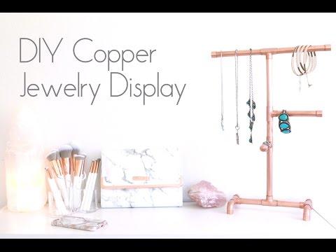DIY Copper Jewelry Display   Organizer