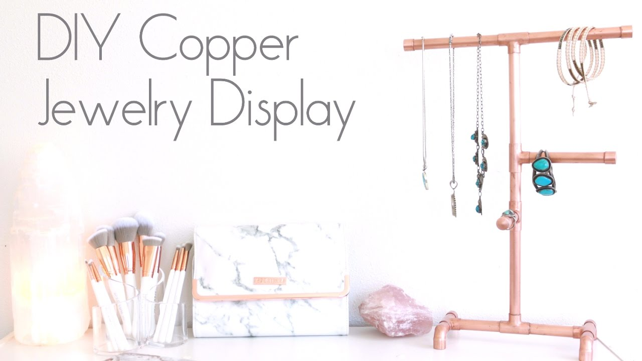 DIY Copper Jewelry Display Organizer YouTube