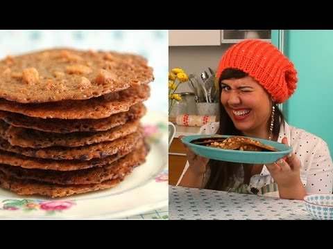 How to make Lace Cookie - Macadamia Lace Cookie Recipe - YouTube