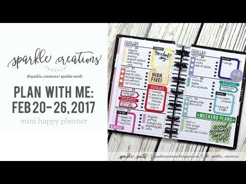 Plan With Me: February 20 - 26, 2017 {Mini Happy Planner}