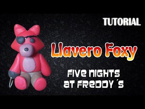 Tutorial Llavero Foxy en Porcelana Fria / FNaF / Foxy Charm Polymer Clay Tutorial