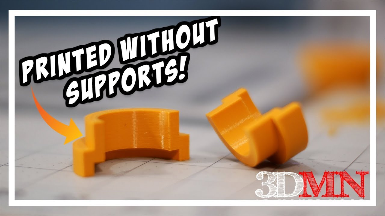 3D Printing Design Tip To Avoid Supports - Sacrificial Layers and Bridges