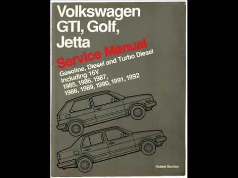 Volkswagen Bentley Service Manual A2 Mk2 Golf, Jetta Gas
