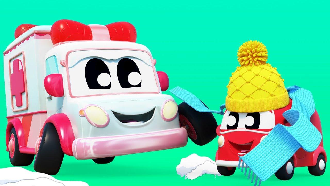 SUPERCAMION y AMBULANCIA ayudan a los CARROS BEBES - Auto City - Dibujos Animados pora niños