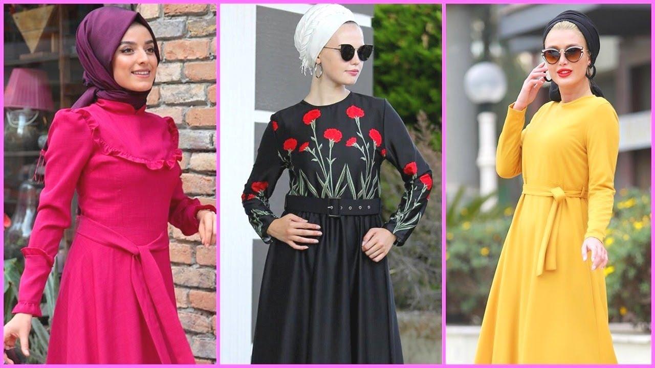 2f13a5462cb0a للبيع فساتين محجبات خروج تركي موديل 2019 - 2020. Arab Fashion