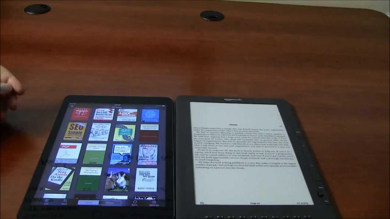 ipad air v kindle dx for reading e books   youtube