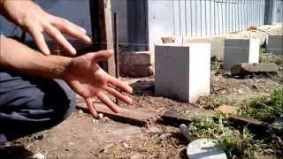 видео Столбчатый фундамент для бани своими руками